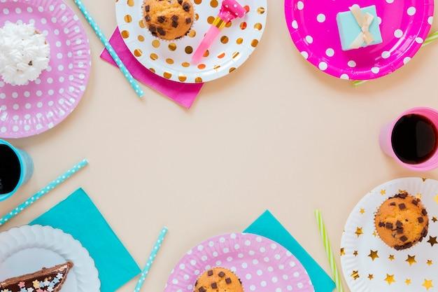 Arranjo festivo para festa de aniversário
