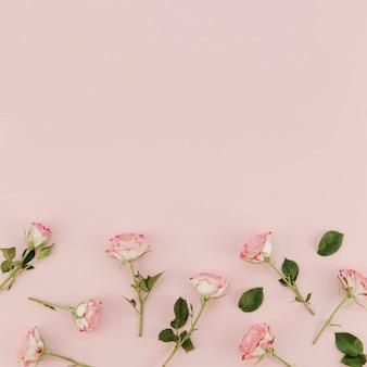 Arranjo floral com espaço de cópia