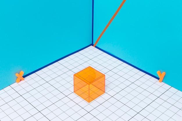 Arranjo geométrico com formas 3d