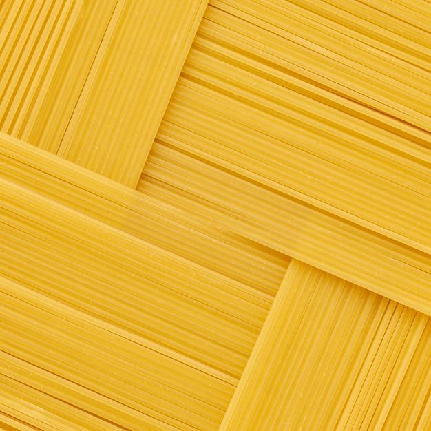 Arranjo geométrico de espaguete cru