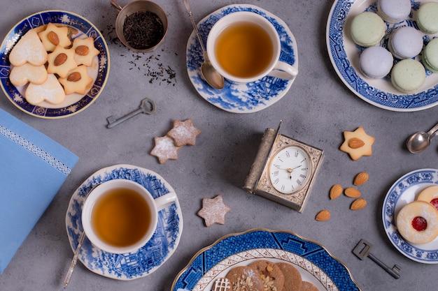 Arranjo sofisticado de chá