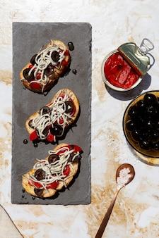 Arranjo tradicional de gulas deliciosas