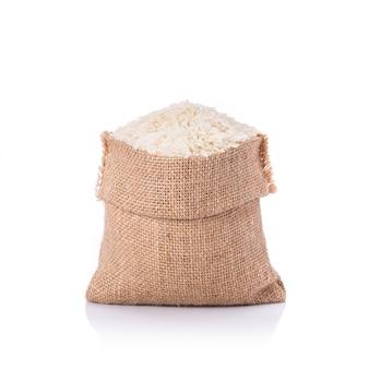 Arroz de jasmim tailandês em saco pequeno