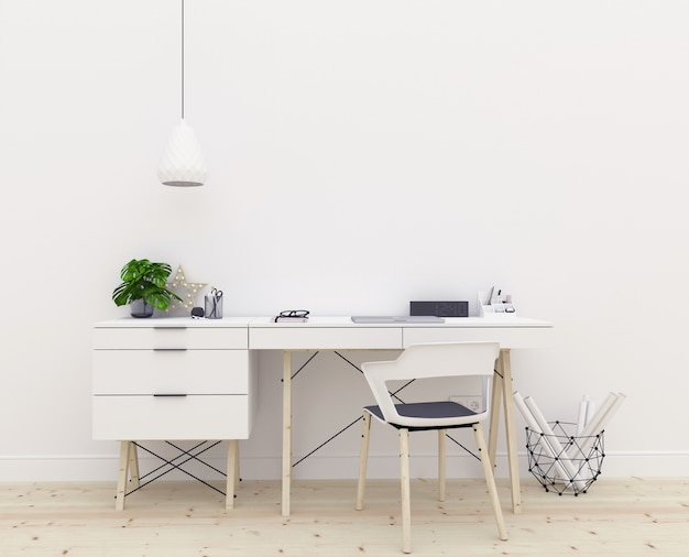 Art mockup - desk - workspace