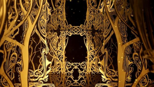 Art nouveau background para publicidade e papel de parede em art nouveau e cena de festa da moda