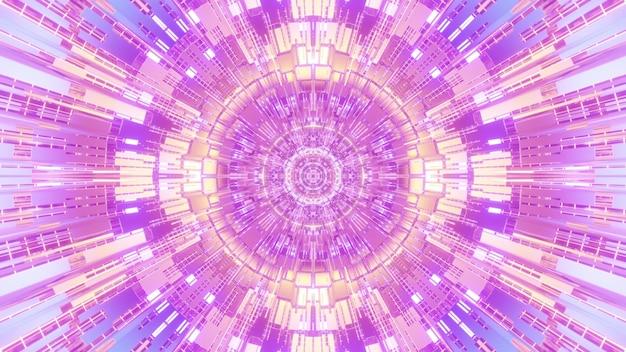 Arte abstrata 4k uhd ilustração 3d design futurista visual com linhas simétricas e células formando um ornamento geométrico circular