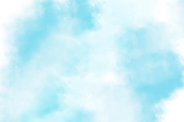 Arte abstrata aquarela fundo azul