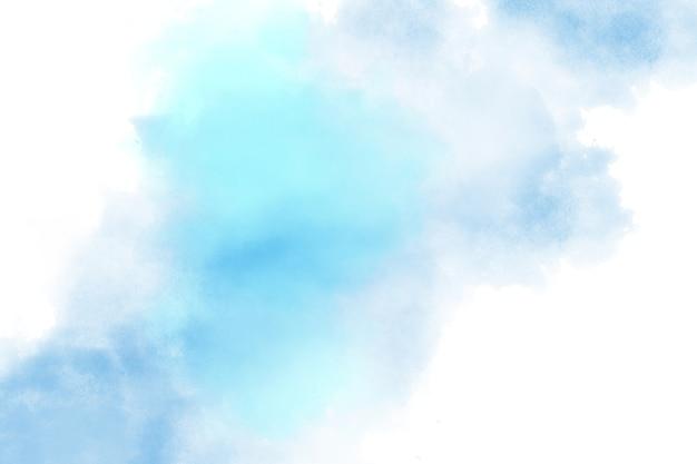 Arte abstrata com fundo aquarela azul em tons pastel