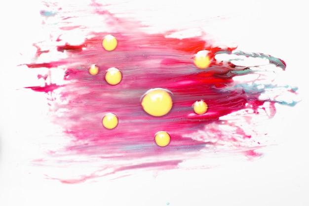Arte abstrata criativa, pintura colorida, abstracionismo em fundo branco