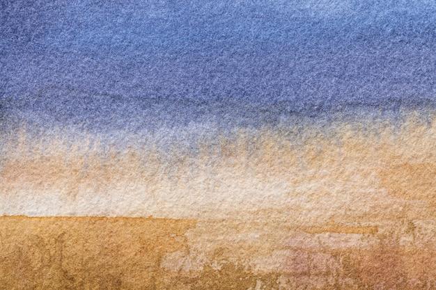 Arte abstrata de fundo cores azuis e marrons