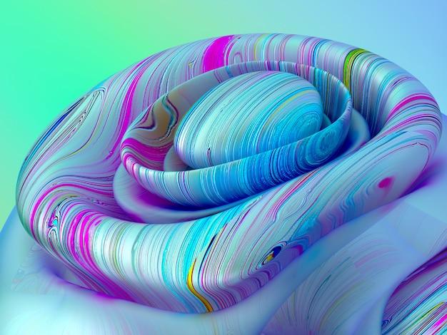 Arte abstrata de fundo surreal em forma esférica