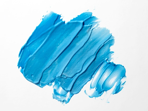 Arte abstrata de traçado de pincel azul