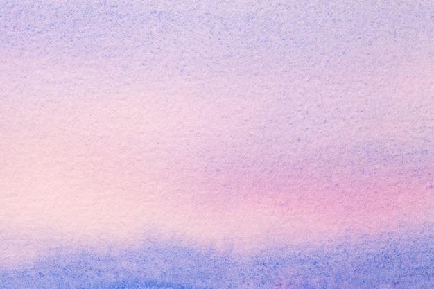 Arte abstrata em azul claro e roxo