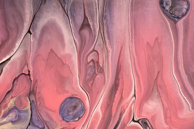 Arte abstrata fluida de fundo azul e cores rosa
