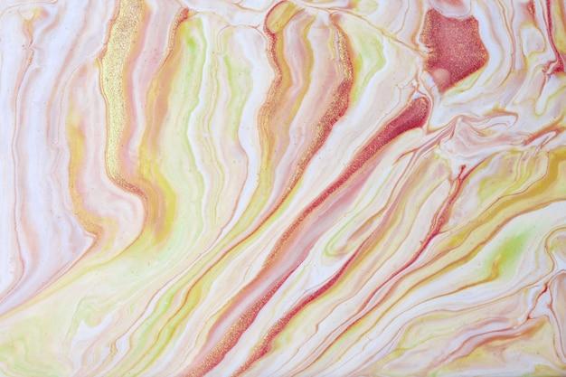 Arte abstrata fluida de fundo bege claro e cores douradas