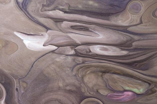 Arte abstrata fluida em cores marrons