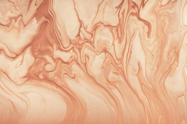 Arte abstrata fluida fundo marrom e cores bege