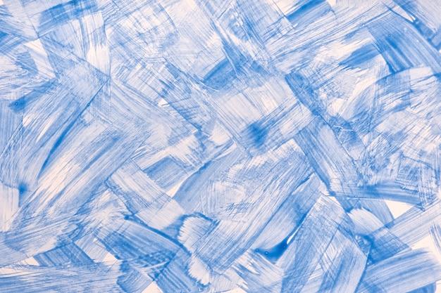 Arte abstrata fundo azul claro e cores brancas.