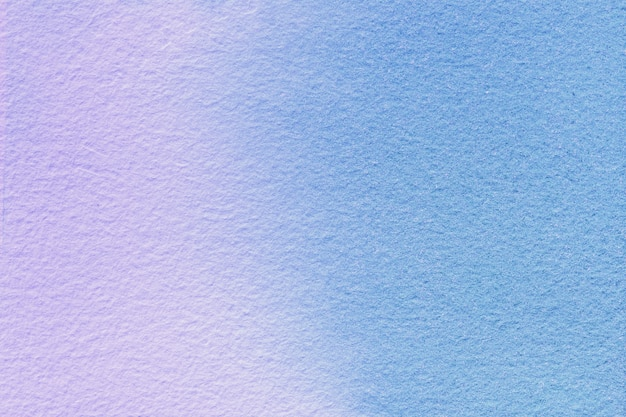 Arte abstrata fundo azul claro e lilás cores. pintura em aquarela sobre tela com gradiente de roxo suave.