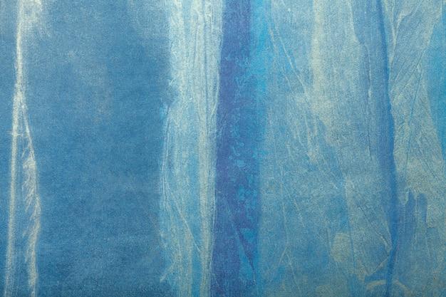 Arte abstrata fundo azul marinho e cor branca