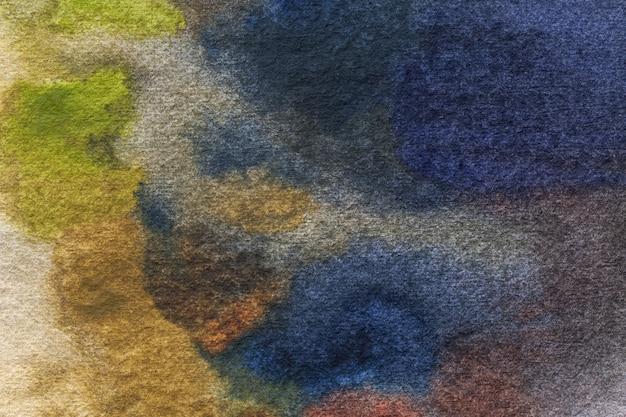 Arte abstrata fundo azul marinho e verde cores