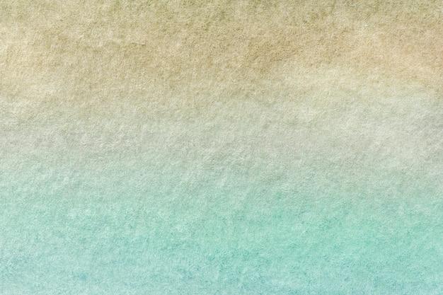 Arte abstrata fundo luz turquesa e cores bege.