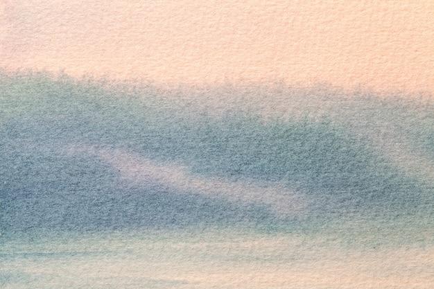 Arte abstrata fundo rosa claro e cores azuis.