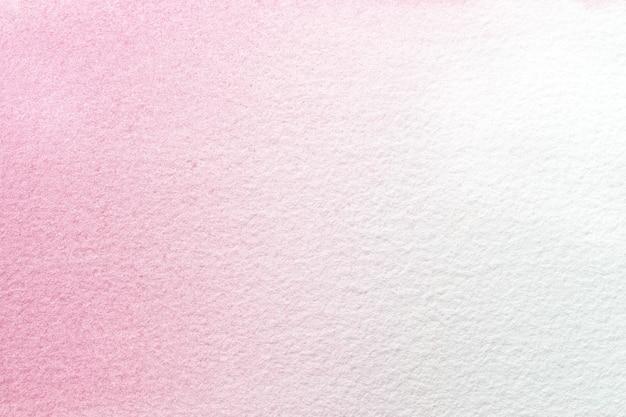 Arte abstrata fundo rosa claro e cores brancas. pintura em aquarela sobre papel com gradiente de roxo.