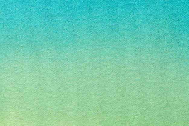 Arte abstrata fundo turquesa luz e cores verdes, pintura em aquarela sobre tela,