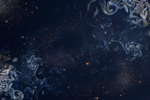 Arte abstrato esfumaçado azul marinho