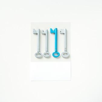 Arte artesanal de papel de chaves