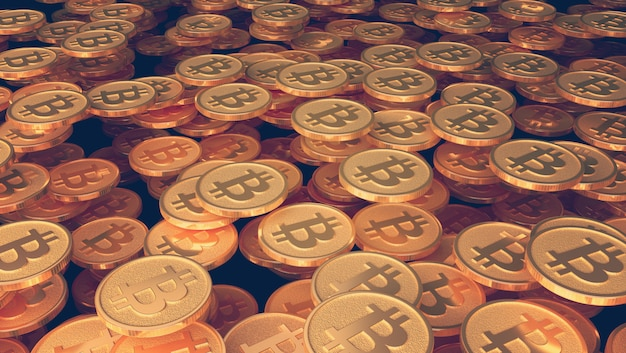 Arte conceitual sobre o tema bitcoins