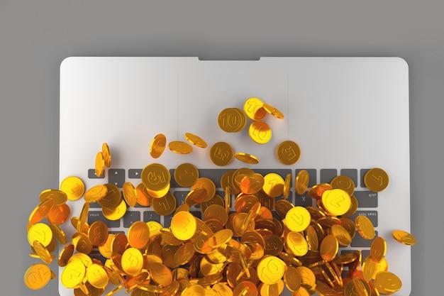 Arte conceitual sobre o tema do dinheiro eletrônico