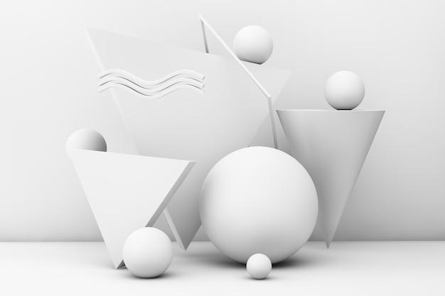 Arte criativa em papel em renderização 3d