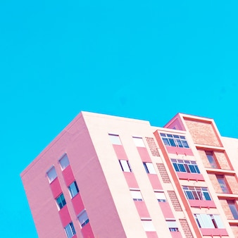 Arte de arquitetura mínima. humor rosa fashion