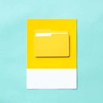 Arte de artesanato de papel da pasta de documentos