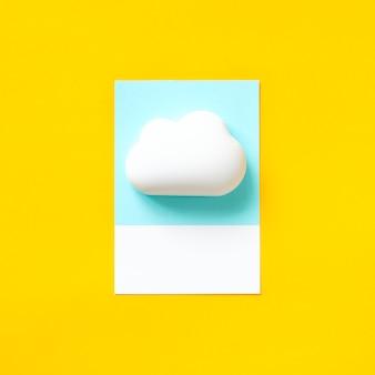 Arte de papel ofício de uma nuvem fofa