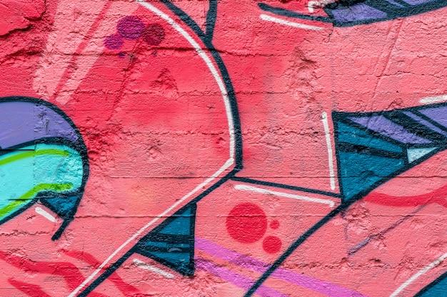 Arte de rua. grafite colorido na parede