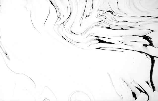 Arte de textura de mármore líquido preto e branco