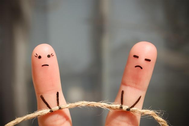 Arte do dedo do casal.