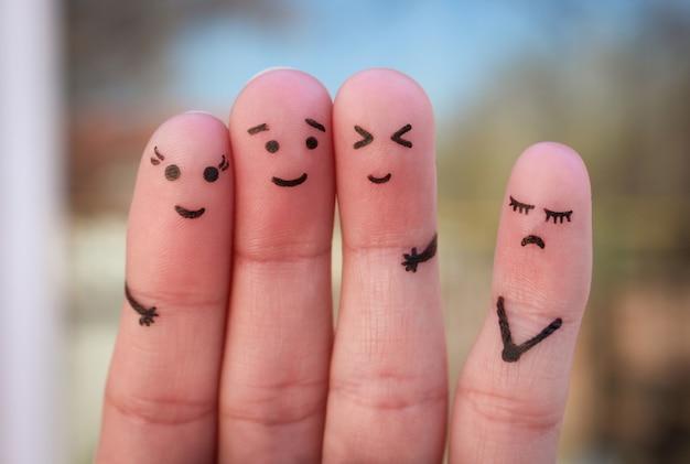 Arte dos dedos das pessoas