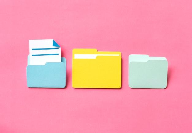 Arte em papel da pasta de documentos
