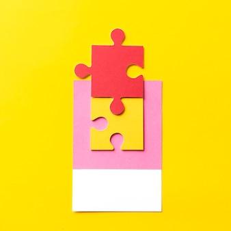 Arte em papel de peça de quebra-cabeça