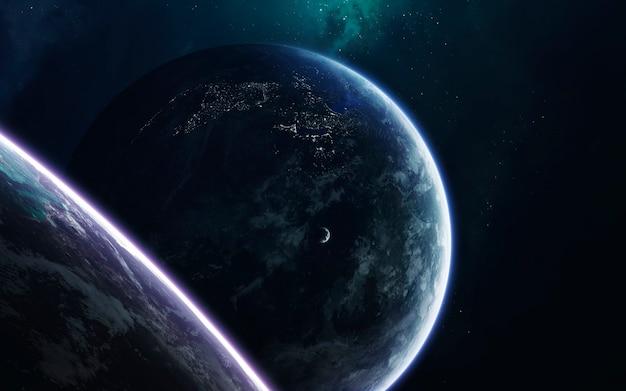 Arte espacial, ficção científica incrivelmente bela universo infinito