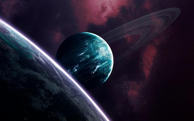 Arte espacial, ficção científica incrivelmente bela