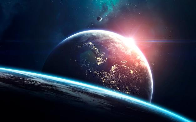 Arte espacial, universo infinito incrivelmente belo