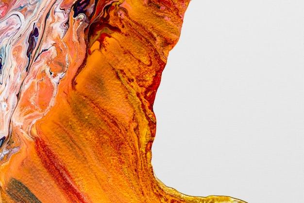 Arte experimental artesanal com fundo laranja estético