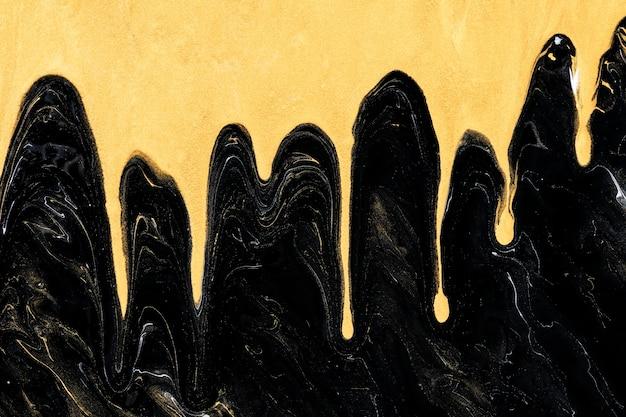 Arte experimental de luxo com fundo preto feito à mão