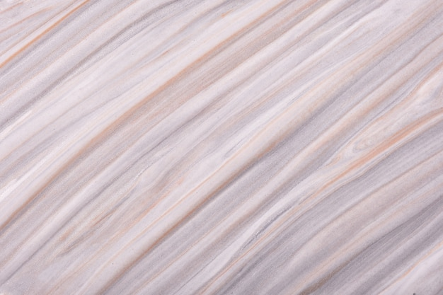 Arte fluida abstrata fundo cinza claro e cores bege. mármore líquido. pintura acrílica sobre tela com gradiente de marfim