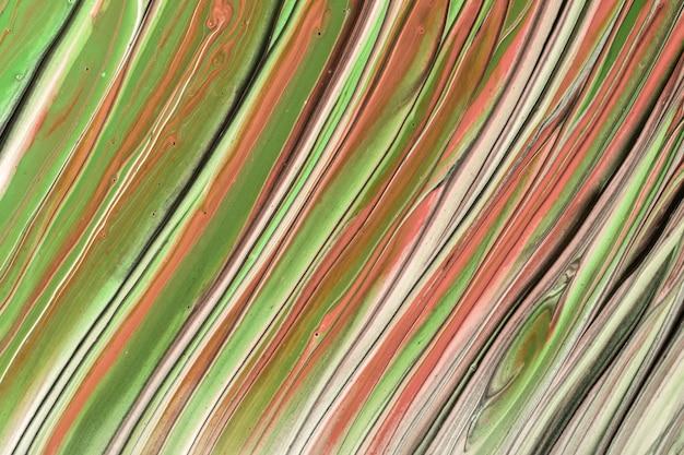 Arte fluida abstrata fundo luz cores verdes e marrons. mármore líquido. pintura acrílica sobre tela com gradiente oliva. pano de fundo aquarela com padrão listrado. seção de pedra.